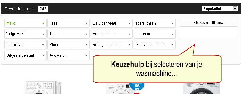 hulp bij selecteren van de beste nieuwe wasmachine