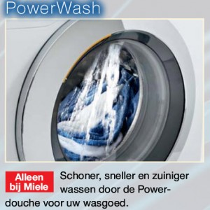 wat is miele powerwash wasmachinefunctie?