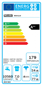 Energielabel Miele WDA110