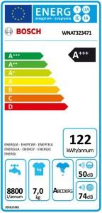 Het energielabel van de Bosch WNAT323471