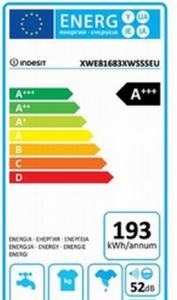 Energielabel van de Indesit-XWE-81683X-WSSS-EU