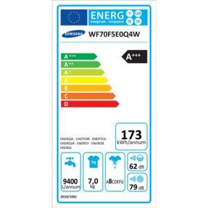 Samsung WF70F5E0Q4W energielabel