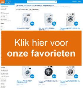 selectie van wasmachinepagina op Coolblue