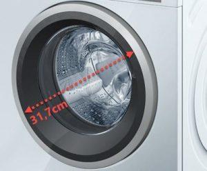 Grote deur op de Siemens wasmachine