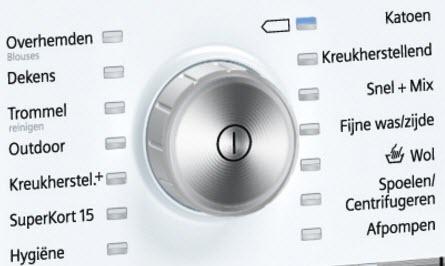 wasprogramma's op de Siemens
