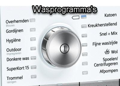 wasprogramma's op de Siemans wasmachine