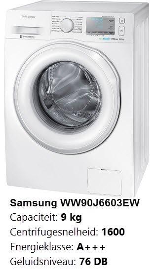 Belangrijke eigenschappen van de Samsung WW90J6603EW