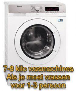 test 7 kilo en 8 kilo wasmachine