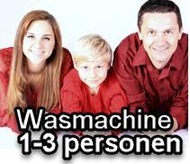 wasmachine voor 1 - 3 peronen