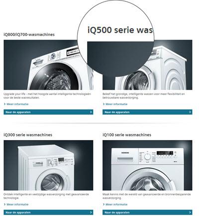 verschillen Siemens IQ-series