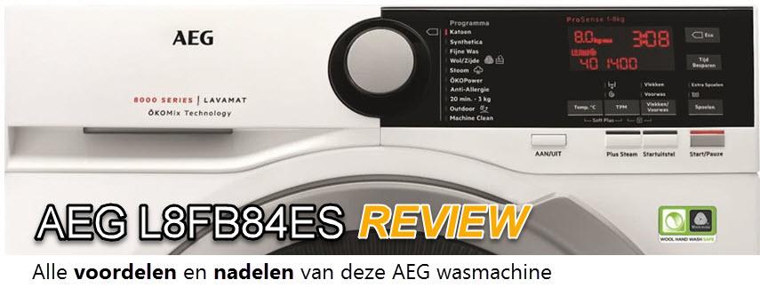 Een AEG L8FB84ES review door Ruud van WasmachinePagina