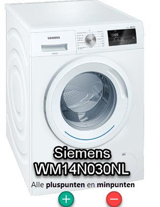 Siemens WM14N030NL review opzoek naar pluspunten en minpunten