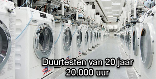 duurtest gebaseerd op 20 jaar wassen