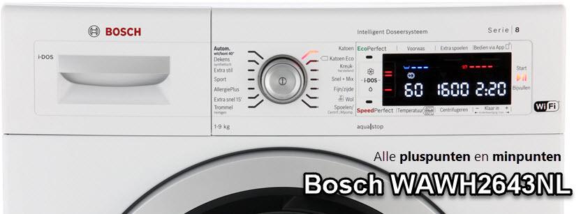 Bosch WAWH2643NL review met alle plussen en minnen van deze Bosch wasmachine