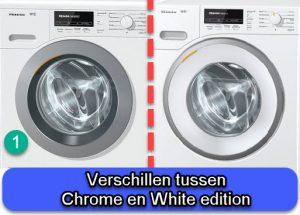 Verschil tussen Miele Chrome en White edition