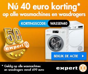 Wasmachine aanbieding Expert 40 euro korting
