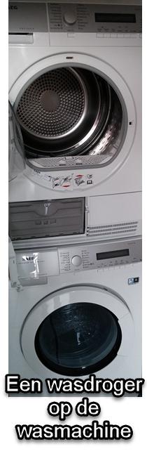 Je wasdroger op de wasmachine stapelen