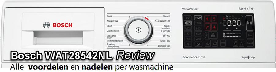 Bosch WAT28542NL review met alle testgegevens