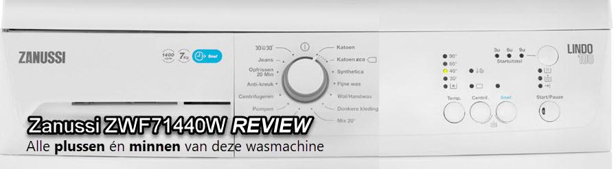 Praktijk test - Uitgebreide beoordeling in deze Zanussi ZWF71440W review