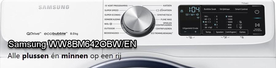 Samsung WW8BM642OBW/EN review door de redactie van WasmachinePagina.nl