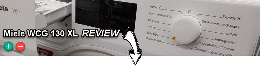 Miele WCG 130 XL review met bevindingen en conclusie