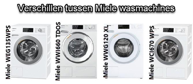 Wat zijn de verschillen tussen verschillende modellen Miele wasmachines