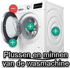 overzicht van pluspunten en minpunten van de wasmachine