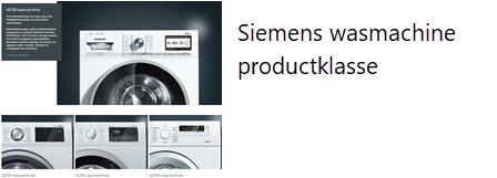 Siemens wasmachine klasse - iq100 - iq300 - iq500 - iq700