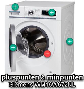 Review met pluspunten en minpunten van de Siemens wasmachine