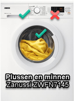 Zanussi ZWFN7145 review met testscores van WasmachinePagina