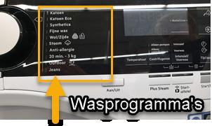 Wasprogramma's op de AEG L7FENQ96