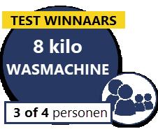 top 3 van 8 kilo wasautomaten