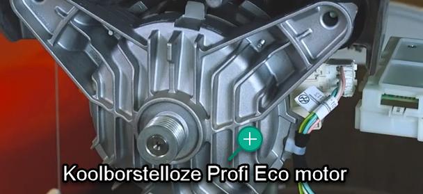 Stille en zuinige Profi-Eco wasmachinemotor