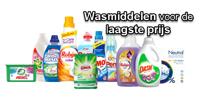 wasmiddelen aanbiedingen