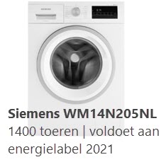 alternatief 1 is deze Siemens WM14N205NL