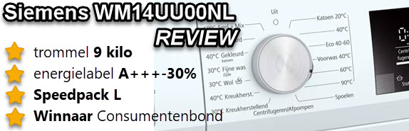 Siemens WM14UU00NL review