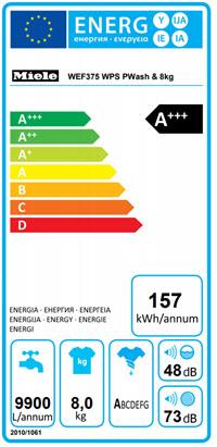 Miele WEF 375 WPS Energielabel
