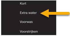 Extra water voor beter schoon spoelen van wasmiddel