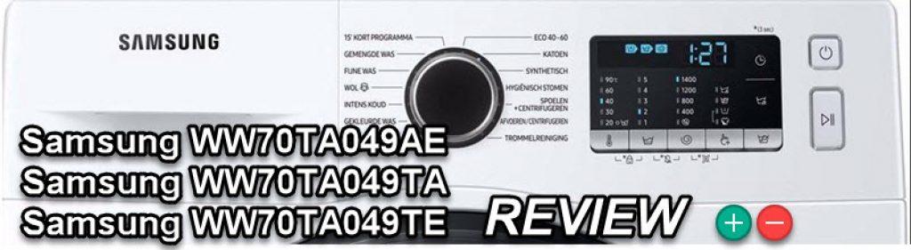 3 identieke wasmachines - Grote Samsung WW70TA049AE WW70TA049TE Samsung WW70TA049TA review en vergelijkingstest
